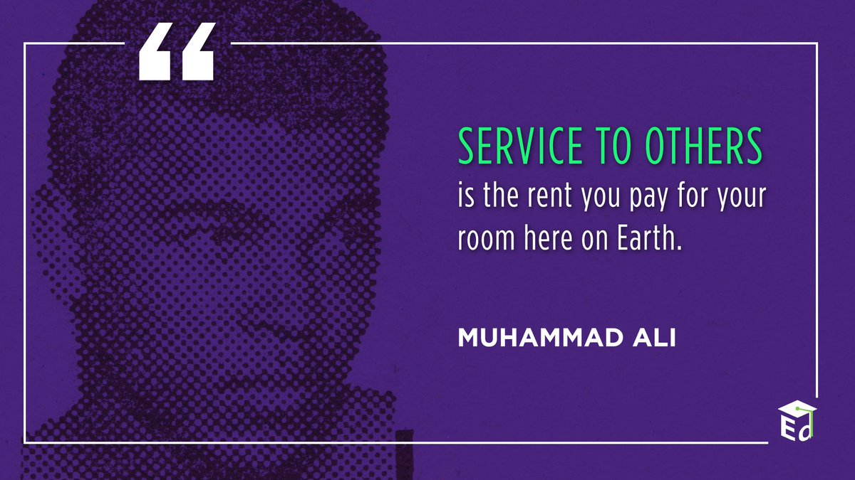 Legendary boxer Muhammad Ali is recognized today for his birthday and for his role as a mentor.   #InternationalMentoringDay