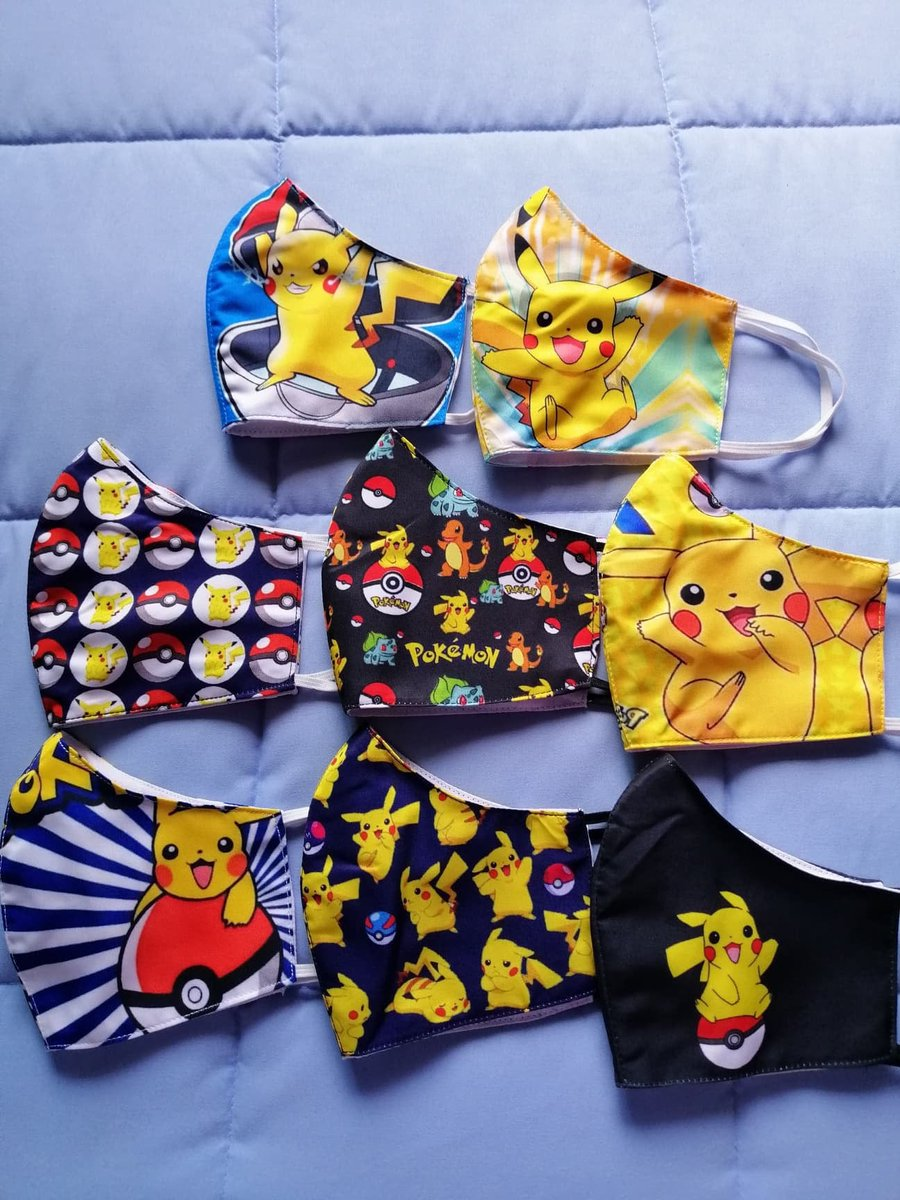 POKEY! latest addition to my #etsy shop: POKEMON pokey ball pika Pikachu Bulbasaur Charmander evo Eevee Charizard Squirtle New Mew Handmade face covers masks gift stocking stuffer  #pink #blue #elastic #no #adult #facemask #facecover #masks #hell