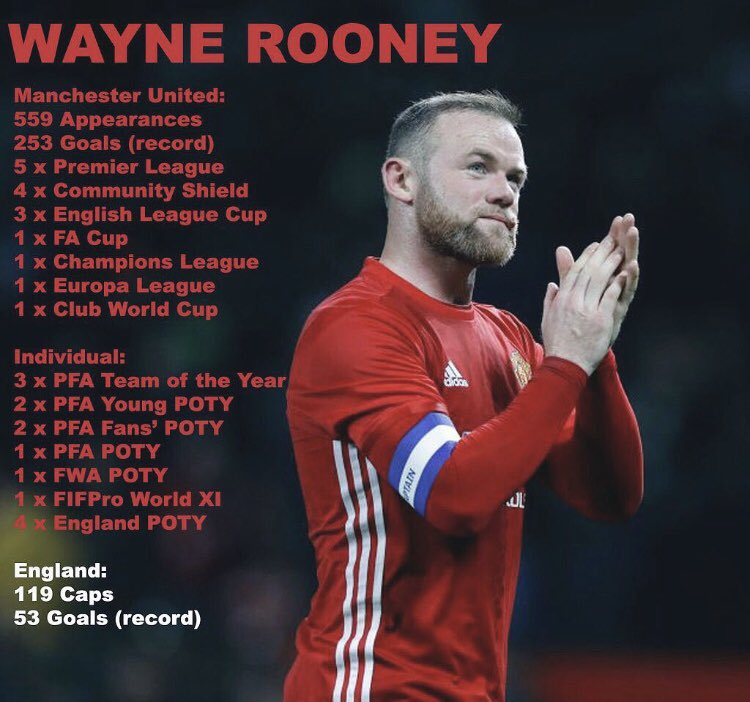 To my GOAT,  the man I love. Happy retirement❤️ Thanks for the good times. #MUFC  #WayneRooney