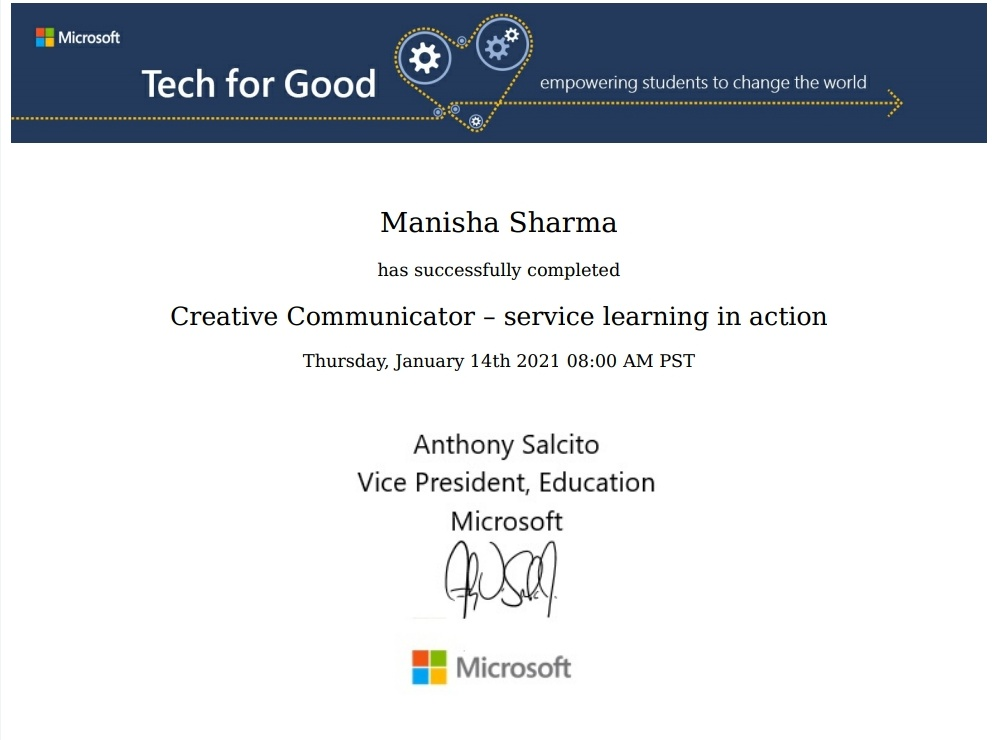 Thank u @MicrosoftEDU for such an informative learning... #techforgood @AnthonySalcito @sdelafosse @NavdeepKKular