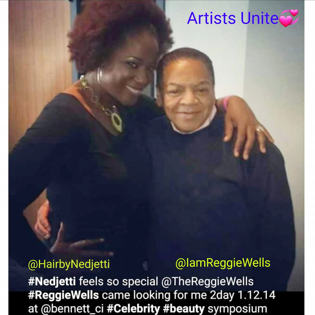 #fbf 1.12.14 The special day our Legendary #MakeupArtist King @TheReggieWells came looking for me during my #LOreal #NaturalHair CEU class in DC to say Hi💞  I ❤you my dear friend #ReggieWells Mr. BeY👑Utiful soul, Innovative & Extraordinaire #MUA💄 #ArtistsUnite 🤛🏾 #Nedjetti🥰