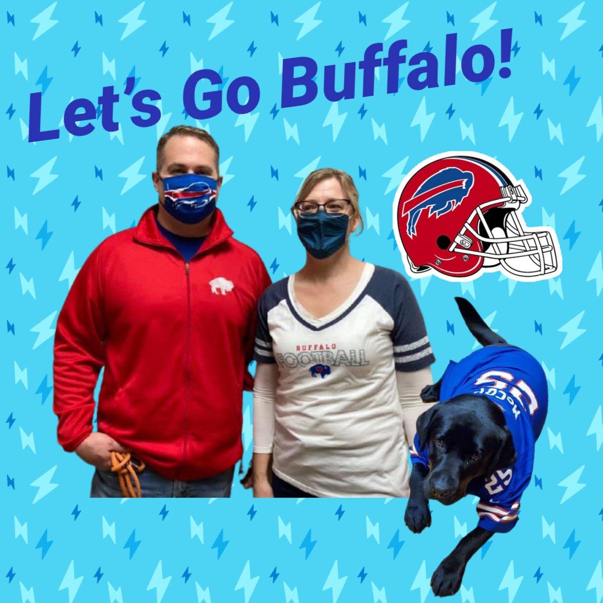 Student Government sponsored Buffalo Bills Spirit Day yesterday and today! Even Mr. Wojcik's pup Charlie got into the act,  sporting her McCoy jersey! GO BILLS! #BillsMafia #gobills #nceaglespride 💙🏈❤️