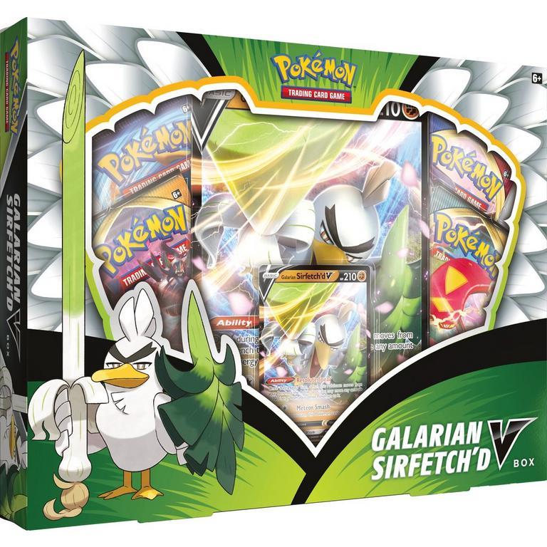 Pokemon - Galarian Sirfetch'd V box in stock at Gamestop, has XY Evolutions!  Sirfetch'd is one of my favorite Gen8 mons, btw    #pokemon #pokemontcg #pokemoncards #ptcgo #pokemongo #pokemonswordshield #sirfetchd #farfetchd #gamestop #nintendo #PokemonSnap