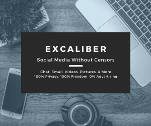 Within 48 hours #bigtech #titans #Apple, #Google and #Amazon destroyed #Parler. Excaliber is untouchable by design. Make Excaliber your new #socialmedia home and enjoy your #liberty and #freespeech. #FightThePower.
