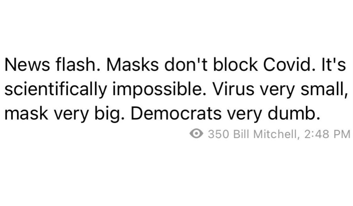 News flash. Bill Mitchell is still dumb.