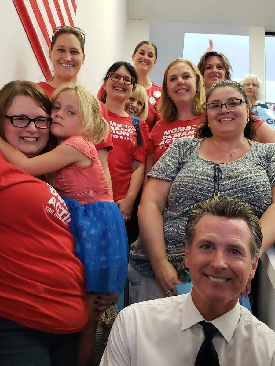 """At this event in 2018, @GavinNewsom called @MomsDemand the """"antidote to the @NRA"""". He was right. #NRABankruptcy #ByeNRA #GunSense @MomsDemand"""