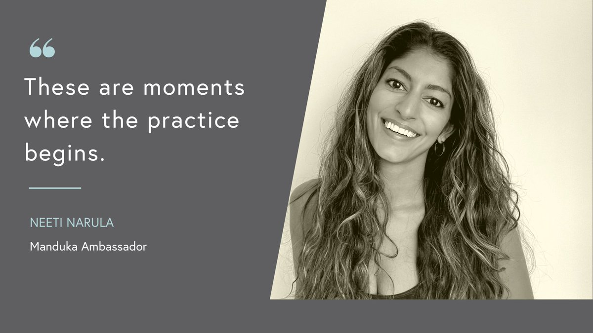 """""""I ask you to look carefully at the moments you consider your darkest. These moments are ours and only ours. These are moments where the practice begins."""" 🙏 Join us with @neeti.narula on the blog ➡️  #wellbeing #wellness #health #mentalhealth  #yoga"""