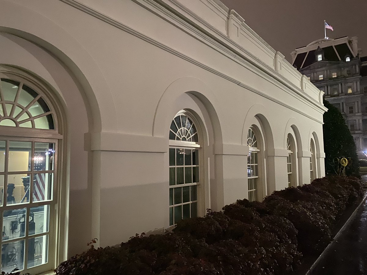 West Wing walls are bare, except for some paintings and pictures that belong to the White House. Most desks are emptied out. Trump staff are moving on.