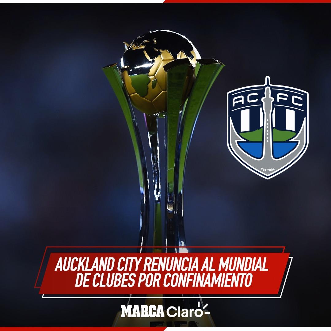 ¡SE BAJAN DEL MUNDIAL DE CLUBES!😷⚽🇳🇿  El @AucklandCity_FC renuncia al #ClubWC debido al confinamiento en Nueva Zelanda