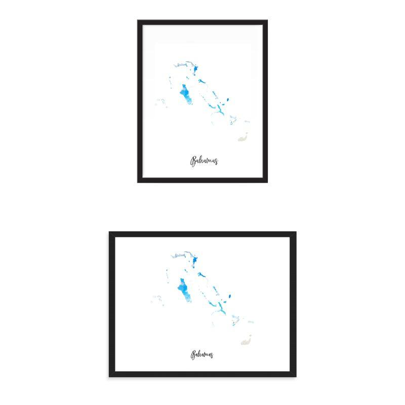 Bahamas Watercolor Map Print - Unframed Art Print  ➤ $ 14.94.  ➤  #wcw #tbt