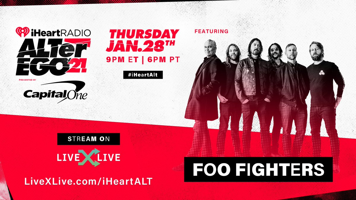 As we get ready for the @foofighters' #iHeartALT performance, we're taking a look at the songs & stories that have defined their career over the years. This is #FooFighters: DNA 👉   Don't miss ALTer EGO 2021 streaming January 28 💥