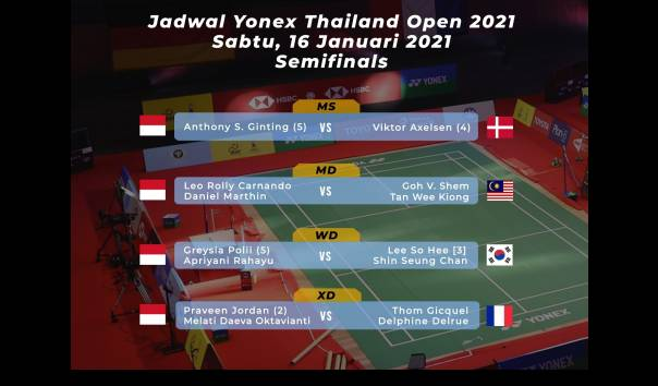Jadwal Semi Final BWF Thailand Open 2021 Hari Ini https://t.co/irSbO9qS3R https://t.co/UgYlEs1veD