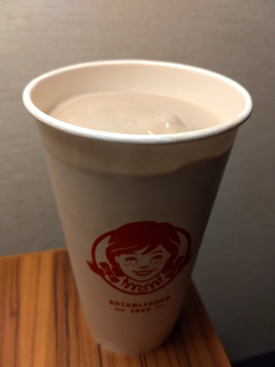 It's not ice cream.  It's not a milkshake.  You gotta respect the guy that decided to invent his own frozen dairy dessert genre. 😂 @Wendys