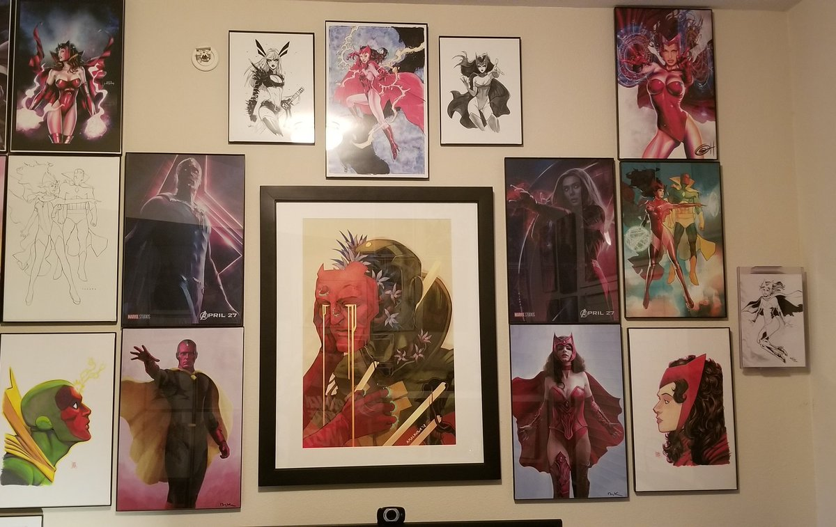 This is literally part of one of my walls  Saying I'm excited that #Wanda and #TheVision are finally getting the spotlight with #WandaVision is an understatement
