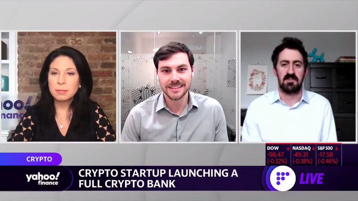 ".@Anchorages @diogomonica on launching a full crypto bank: ""This is really big for the space because it allows very large institutions… to now have a trusted partner with... very clear guidance on digital asset custody, stablecoin issuance, and other businesses within crypto."""