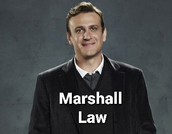 """Here is my """"Marshall Law"""" #MarshallLaw"""