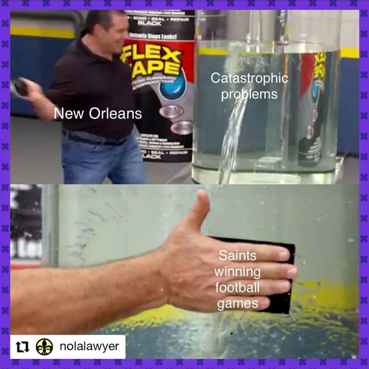 That outta do it. ⚜☝  #Repost @nolalawyer • • • • • • New Orleans, Louisiana  🎼 Every little thing gonna be alright 🎵  #WHODAT #Saints   ⚜ In the middle of it all. #NOLA #NewOrleans #NeutralNews #NGN504