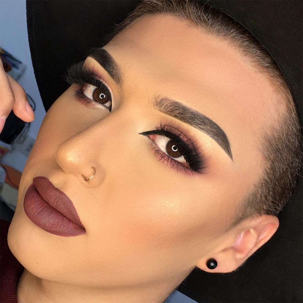 On 🔥 FIRE 🔥 @eduardoaf_makeup used our #MyBFF Matte Concealer for flawless skin - It completely  covers dark circles, pigmentation, redness, and acne. ($5)  What are your weaknesses?! 🤔 Visit our website and say goodbye to skin blemishes!  #amorus #AmorusSweetheart #repost