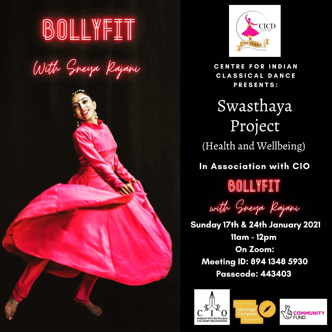 FREE BOLLYFIT this #SUNDAY 17th & 24th January, 11am - 12pm GMT, #ZOOM with @sneyarajani !  ID: 89413485930  Code: 443403   Funded by @HeritageFundUK @TNLComFund @TNLUK   #dance #love #bollywood #Online #fun #health #healthylifestyle #healthcare #COVIDー19