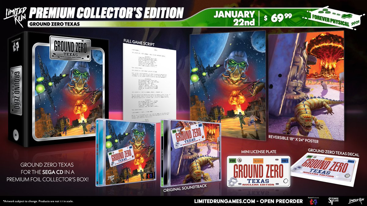 Pick up the Ground Zero: Texas Collector's Edition for Sega CD, open for pre-order January 22 on .