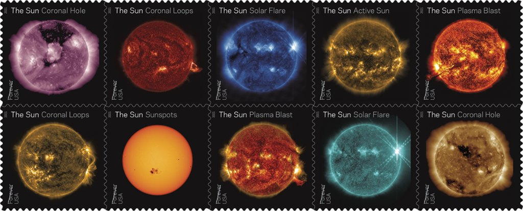 Bring some sunshine into your mailbox. 📬☀️ New @USPS stamps will feature views of the Sun from our Solar Dynamics Observatory, showcasing our star's dynamic and dazzling activity.