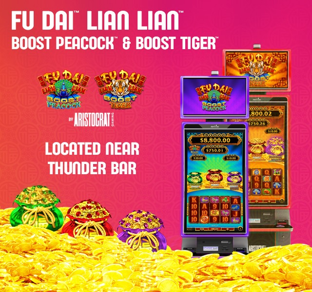 Wild new slots at Thunder Valley! 🎰 Come play Boost Peacock and Boost Tiger near Thunder Bar!