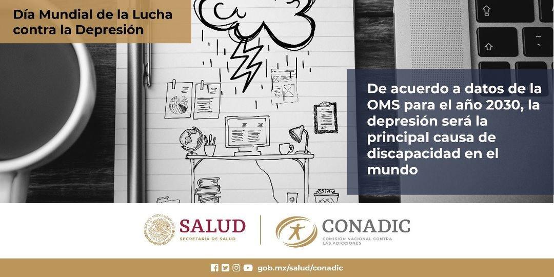 Dia Mundial de la Lucha contra la Depresión  #ConadicTeEscuha #CuidaTuSaludMental   @LineaDe_LaVida 800 911 2000 ☎️ 911 Línea De Vida Coahuila #JuntosPorLaPaz #HeroesConCAPAPiedrasNegras #CAPAtipsPN #SaludMental @Jurisdiccion1PN  @D_Videgaray  @CONADICmx @ceca_coahuila @CapasCoah https://t.co/2vB1sTbJW4