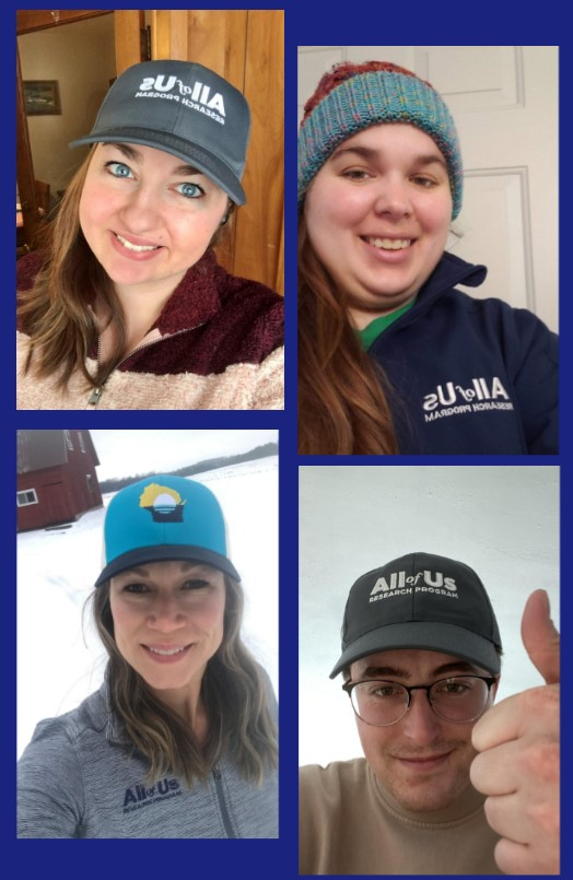 Did you hear??? It's #NationalHatDay! The Community Engagement Team is celebrating by representing #Wisconsin and @AllofUsResearch! Show us your favorite hat picture 👇👇  #JoinAllofUs