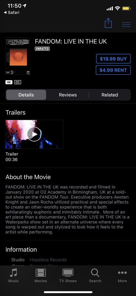 FANDOM: LIVE IN THE UK IS FINALLY AVAILABLE FOR DIGITAL RENTAL/PURCHASE AND LOOKS SO OFFICIAL, DAMN 🍊 GO LEAVE A REVIEW ABOUT HOW IMPOSSIBLE LUCAS MADE IT FOR U TO BUY THE IGUANA YOU'VE BEEN THINKING ABOUT GETTING FOR MONTHS NOW   HERE: