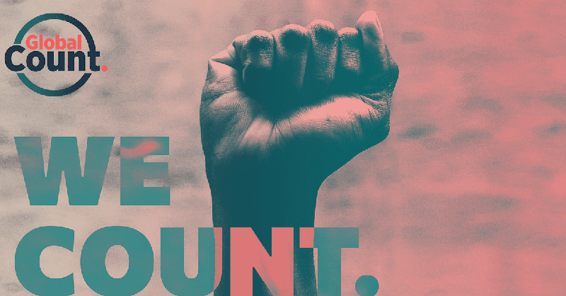 The day to mobilize has finally arrived! Let's make it count.  NOW LIVE: @TheGlobalCount, which will set the foundation for women to define how global institutions work towards gender equity  #WeCount #WhyIMarch