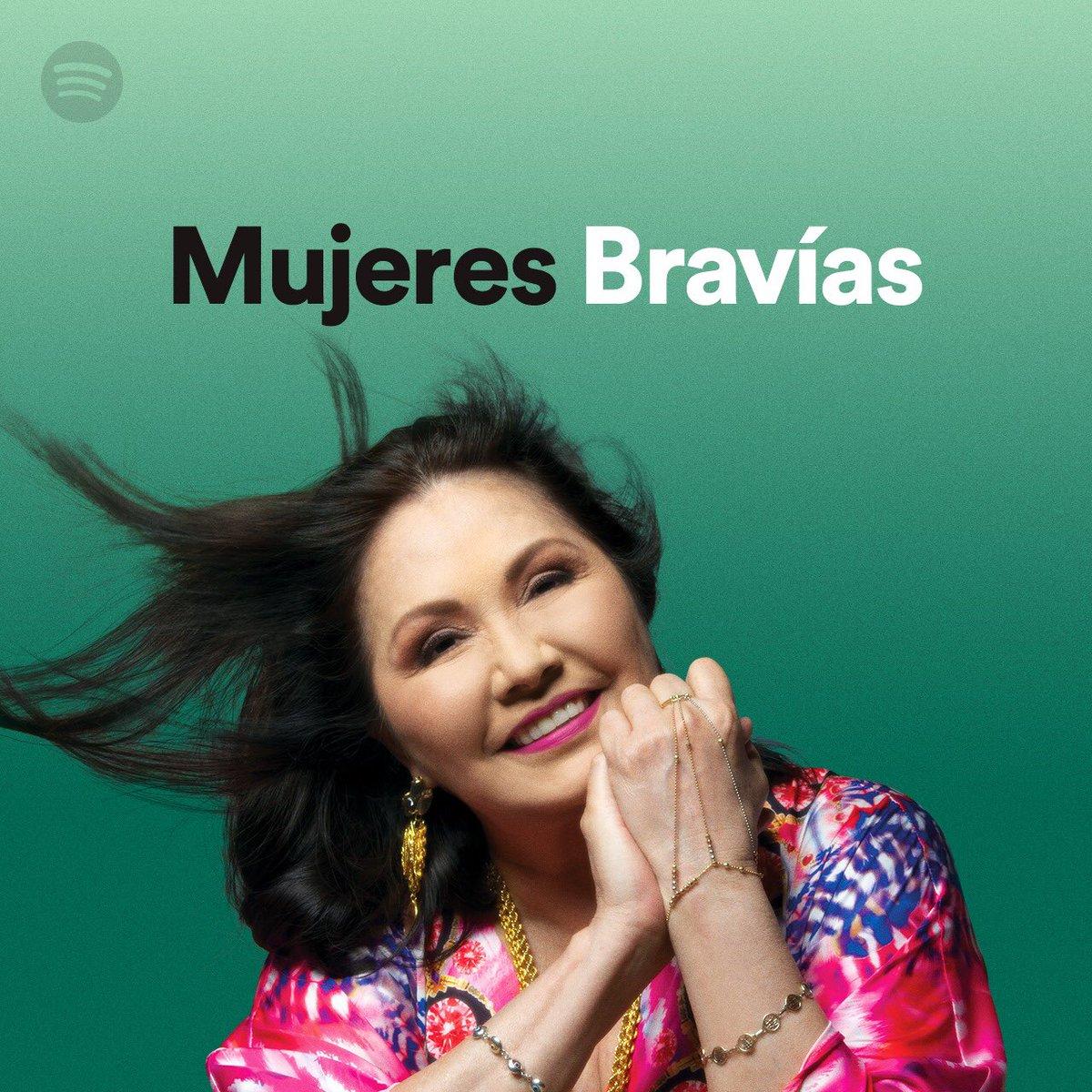 """.@ANAGABRIELRL en portada en la playlist """"Mujeres Bravías"""" de @SpotifyMexico 🤩"""