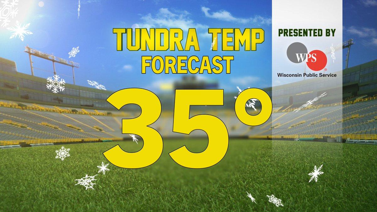 Postseason football at Lambeau Field.   Saturday's #WPSTundraTemp Forecast
