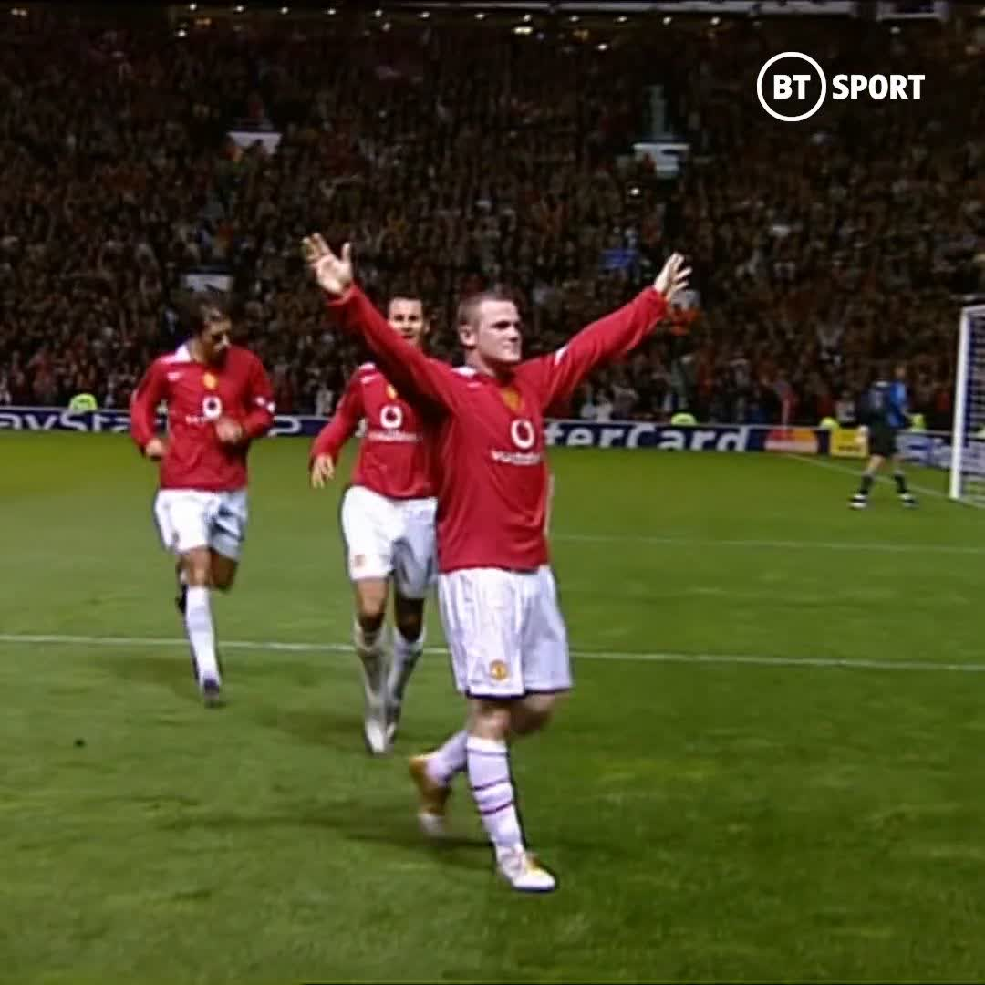 It was clear from the start that Wayne Rooney was set for greatness at Old Trafford! ✨  📆 On the 28th September 2004, at 18 years of age, he scored a fantastic debut hat-trick against Fenerbahce in the Champions League 🔴⚫️  The Red Devils' all-time leading goalscorer! 🥇