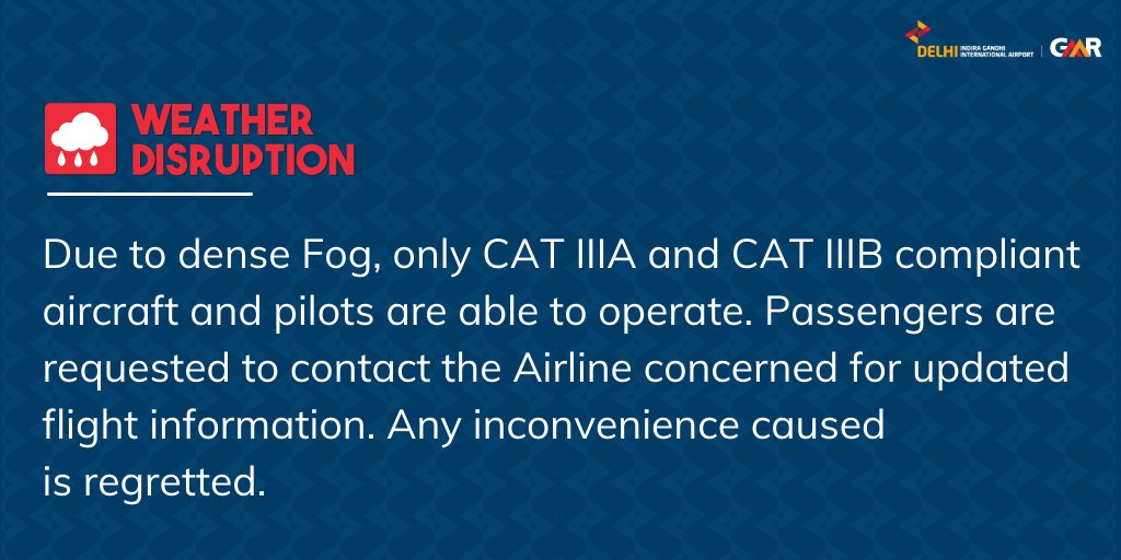Update issued at 0130 hours: For live updates on the fog situation, visit  #FogAlert #DelhiAirport