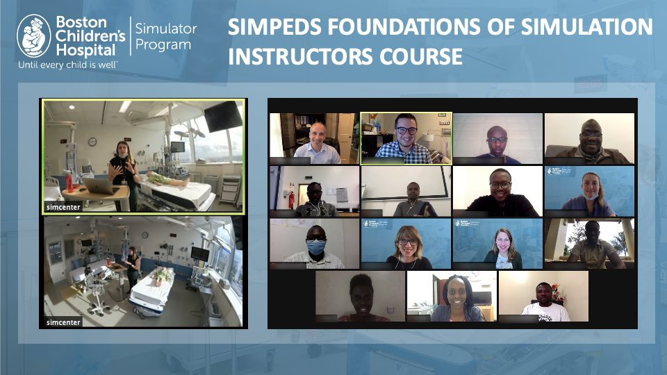 @SIMPeds_BCH will run its next Virtual Instructors Course June 2 - 4, 2021! We invite clinicians @BostonChildrens & beyond to join this interactive experience, designed to help you meet clinical & training needs via #Simulation and debriefing. Register at