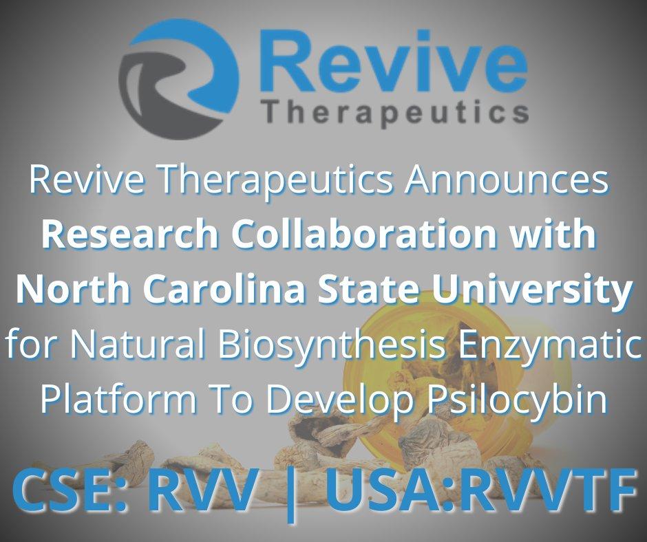 @Revive_RVV $RVV.C … #biotech #alternativemedicine #psilocybin #biotechstocks #pharma #psychedelics #pharmaceuticalresearch #research #medicalresearch #psychedelicresearch #biosynthesis  #pennystocks #smallcaps #FrontierMCG