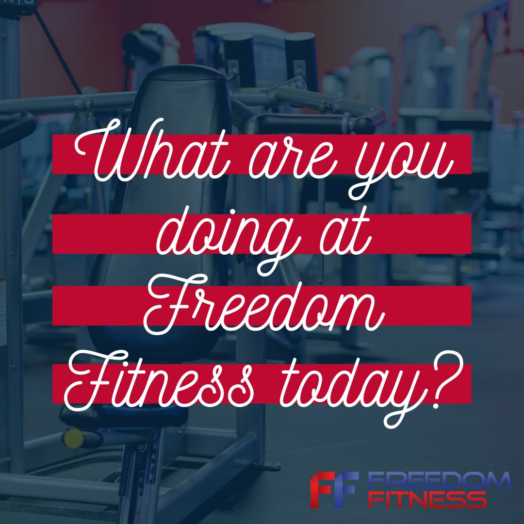 What are you doing at Freedom Fitness today? #FreedomFitness #CorpusChristi #Fitness #Gym #LocalGym #Corpus #CorpusFitness #LocalGym