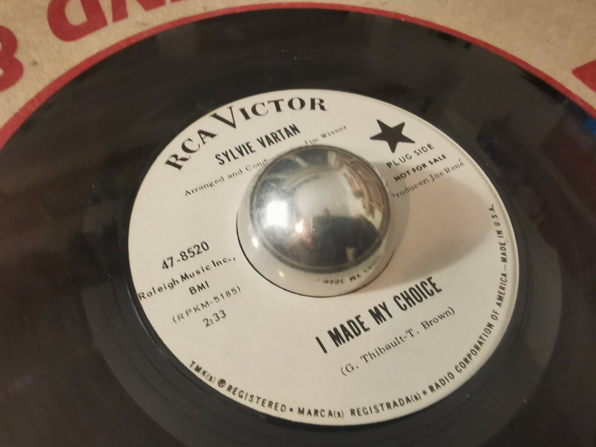 """#NowPlaying Sylvie Vartan """"I Made My Choice"""" US RCA Promo. A great, great record."""