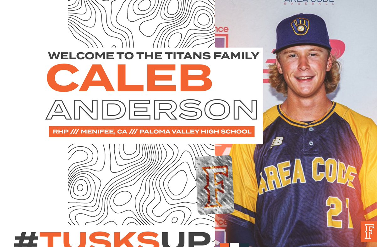 Menifee ➡️ Goodwin  Welcome to the Family, @calebanderrson.  📰:   #TusksUp ⚾️