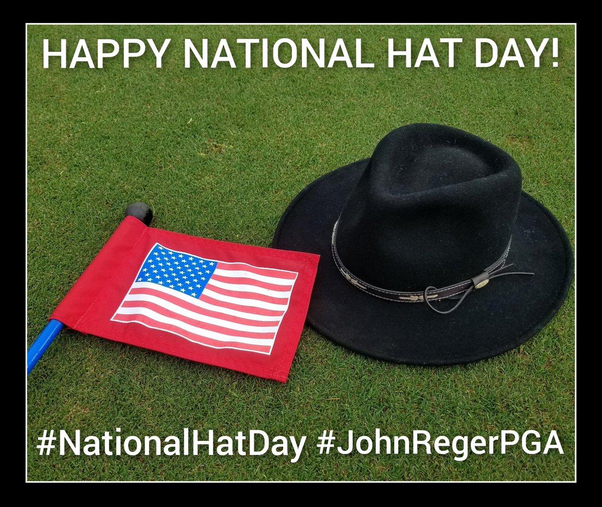 Happy National Hat Day! #NationalHatDay #JohnRegerPGA #meadowbrookgolfclubgainesville