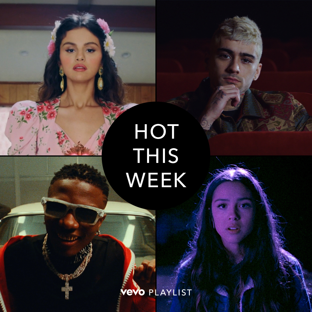 Today's Hot This Week episode is loaded. 🔥 From @SelenaGomez and @zaynmalik to @WizKidayo and newcomer @Olivia_Rodrigo, we want to know: Which video is your favorite? 🔊 ⠀⠀⠀⠀⠀⠀⠀⠀⠀ ▶️