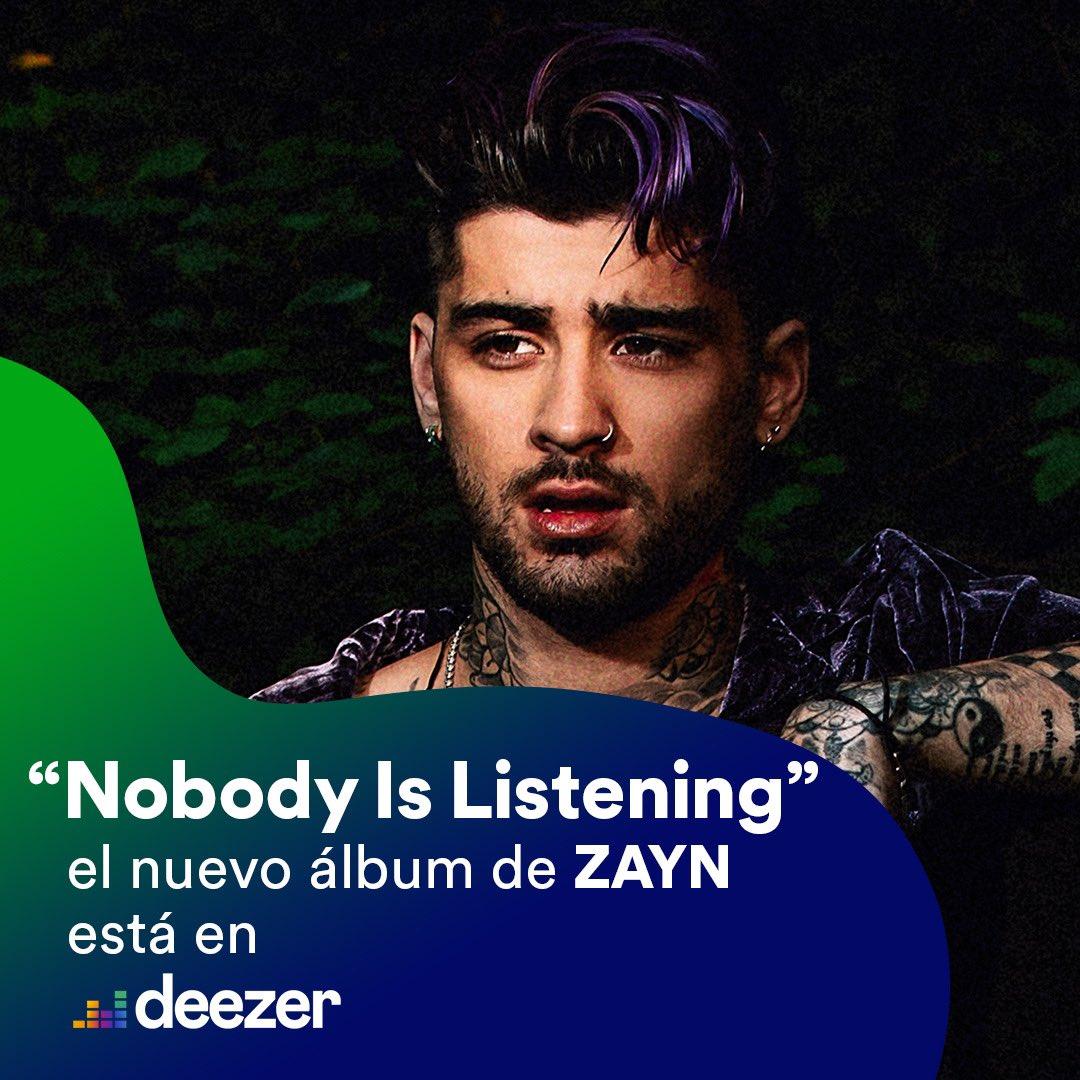 Ya puedes disfrutar Nobody Is Listening de @zaynmalik en @DeezerLatino !