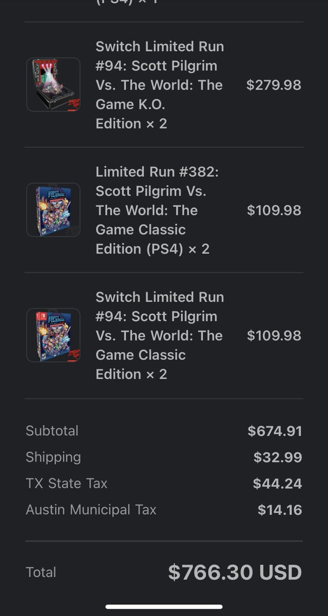 @LimitedRunGames ouch..my wallet. Hopefully it can thank me in the long run 😅. Either way! #ForeverPhysical and glad to add this to the collection.