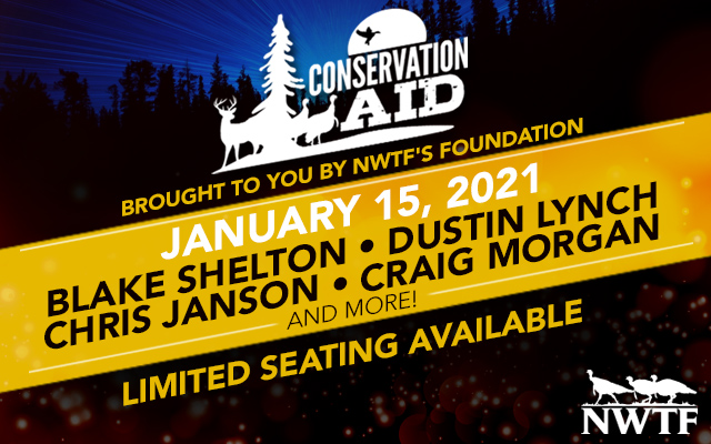 The National Wild Turkey Federation Foundation's Conservation AID benefit concert will take place at the Grand Ole Opry House in just a few hours!   Livestream tickets available here: