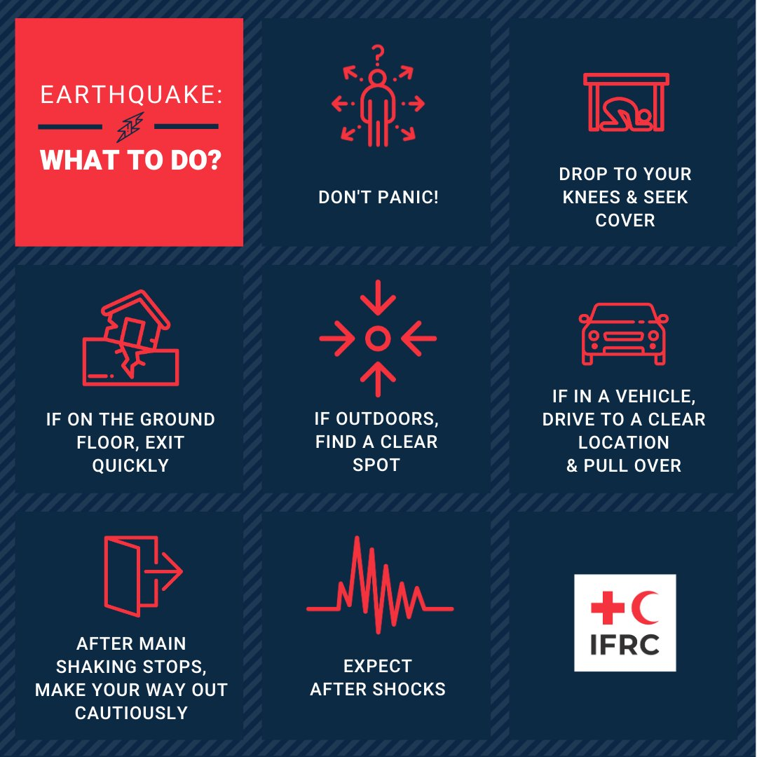 Last Friday, a 6.2 magnitude earthquake hit West Sulawesi, Indonesia. Do you know what do in case of an earthquake? ⛑