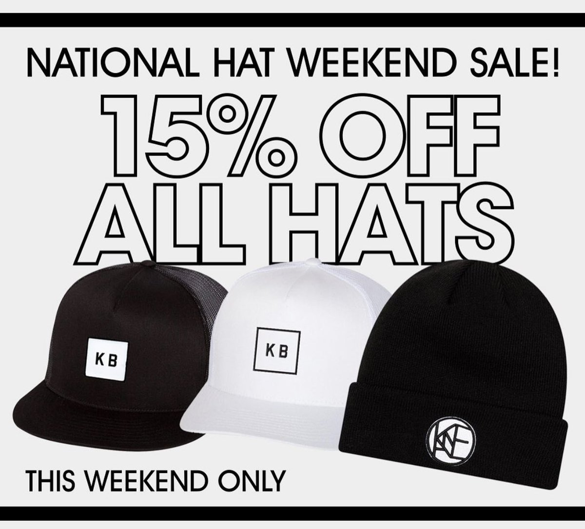 Who needs to grab a hat this weekend?! 👀 #NationalHatDay #nationalhatweekend #sale @kanebrown @KaneBrownFamily #KBFamily