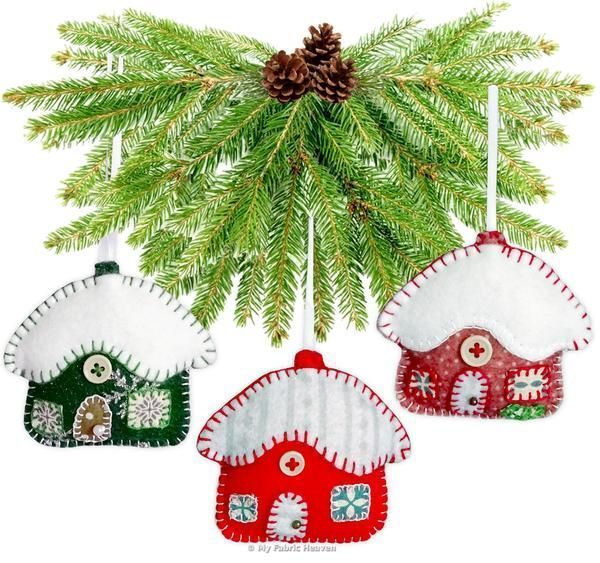 "Snowy #Cottage #Christmas #Ornaments 3"" Paper Sewing #Pattern  #myfabricheaven #sewing #handmade #flockbn #KPRS #SNRTG #eshopsuk #BTRTG #sewingaddict  #sewinglove #sewersoftwitter #handmadewithlove #isew #design #sewsewsew #sewistsoftwitter #sewingforkids"