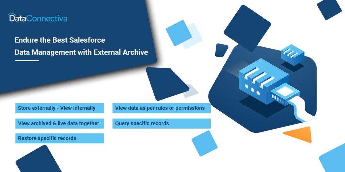 Unlock the power of enterprise-grade data archival in order to meet data management needs. Use #DataConnectiva for Salesforce data archiving. Get the app today  #AppExchange #DataManagement #DataArchiving #Salesforce