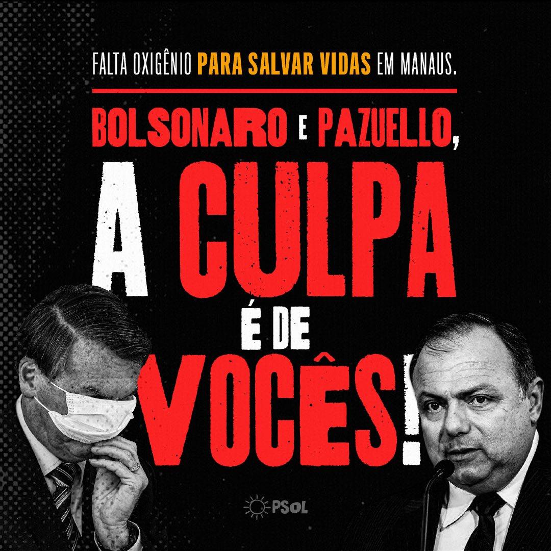 Todos sabemos de quem é a culpa pela barbárie vivida em Manaus. #ImpeachmentBolsonaroUrgente