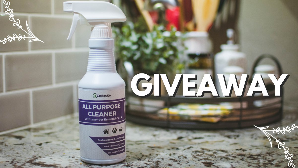 💜GIVEAWAY💚  Start into your New Year cleaning with our All-Purpose Cleaner! Our cleaner is handcrafted with pure essential oils & is non-toxic chemicals, found in common household cleaners. 🧽  Your choice of Lavender, Peppermint, or Lemongrass!  RT & FOLLOW TO ENTER  Ends 1/18